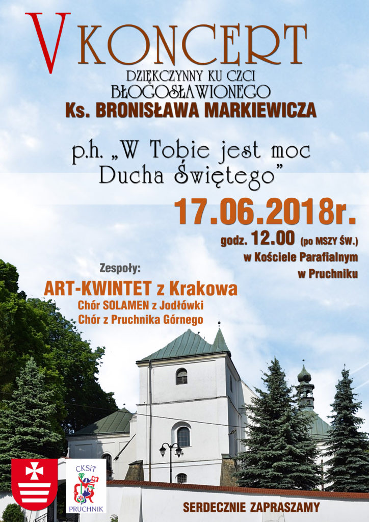 plakat koncert markiewicza 2018