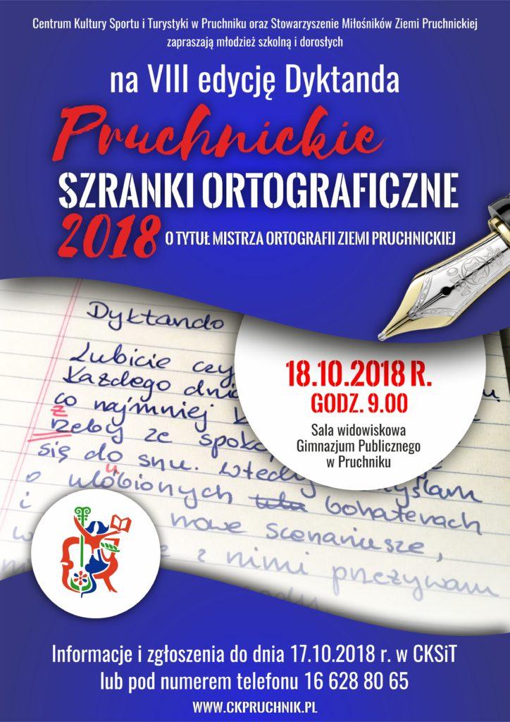 Szranki ortograficzne 2018 - plakat